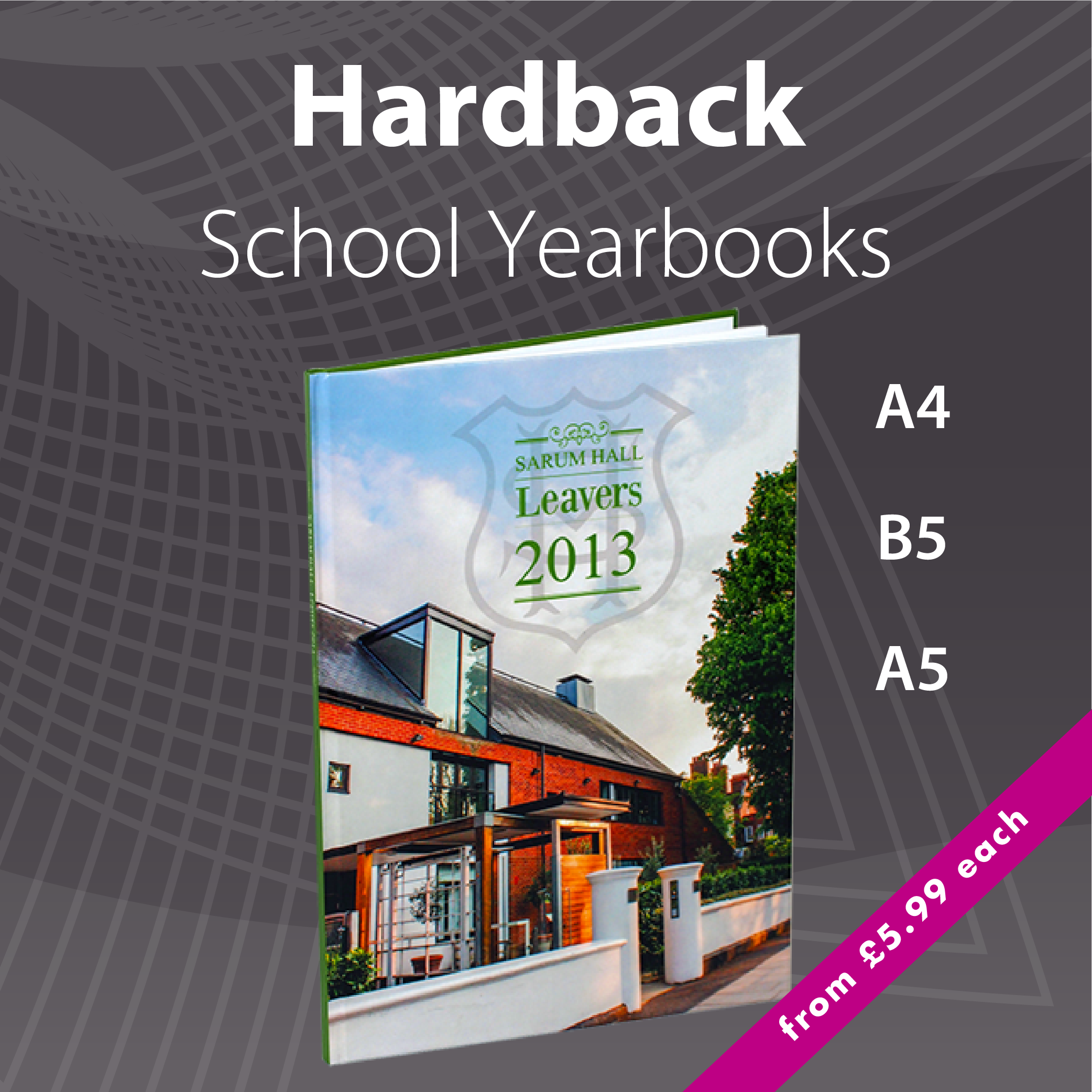 Low Cost Premium Hardback School Yearbook Printing